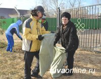 Тысячи кызылчан вышли на общегородской субботник