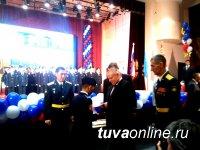 """Для 65 воспитанников Кызылского Президентского училища началось """"кадетство"""""""