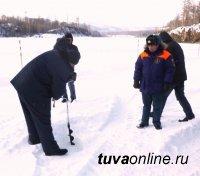 В Туве открылась еще одна ледовая переправа через реку Малый Енисей в Каа-Хемском районе