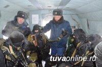 В Туве прошли учения бойцов спецподразделений на базе вертолетного отряда МВД по Туве