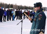 Силовики Тувы соревновались в лыжных гонках