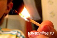 Детская шалость с огнем привела к пожару в Эрзинском районе