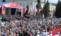 Юбилейный парад Победы в Туве собрал беспрецедентное количество участников и зрителей