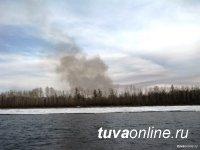 На территории Тувы действуют четыре лесных пожара