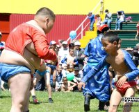 В хуреше юных спортсменов Тувы боролось 850 участников