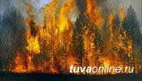 В Туве действуют 54 пожара