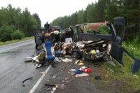 В результате столкновения на трассе М-54 двух автобусов погибли 11 человек
