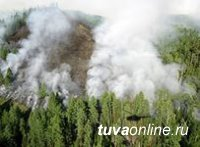 За сутки в Туве ликвидировано 10 пожаров. На подступах в леса установлено 66 постов