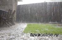 В Туве ожидаются сильные дожди и град