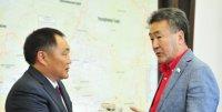 Глава Тувы встретился с председателем Госсобрания Эл-Курултай Республики Алтай