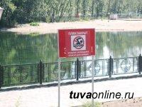 В Кызыле в связи с понижением температуры закрыт городской пляж