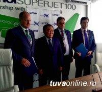 Туве будут переданы в лизинг 10 самолетов «Сухой Суперджет-100»