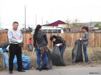 За год кызылчане собрали 1461 кубометр мусора