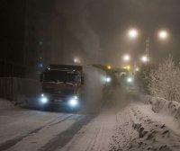 МУП «Благоустройство» всю ночь очищало дороги от снега