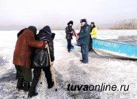 В Туве идет ледостав – инспекторы ГИМС проводят профилактические мероприятия