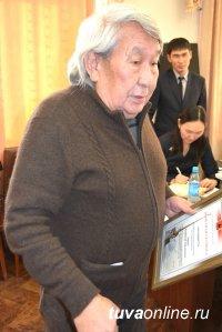 Почетной грамотой Хурала представителей г. Кызыла награжден один из старейших проектировщиков Тувы Анатолий Хараев