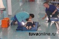 Тувинские спасатели провели показательные учения по спасению утопающих