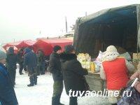 На Левобережных дачах Кызыла накануне Шагаа была организована ярмарка