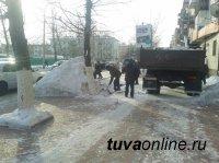 МУП Благоустройство - в круглосуточной борьбе со снегом на улицах Кызыла
