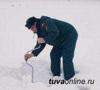 В Туве инспекторы ГИМС совместно с Росприроднадзором провели рейд на Кара-Хаакской ледовой переправе