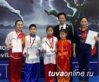 Юные ушуисты Тувы завоевали на международном турнире две золотые и шесть бронзовых медалей
