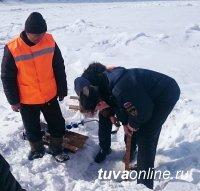 Грузоподъемность Кара-Хаакской ледовой переправы снижена до 7 тонн