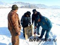 Грузоподъемность Эйлиг-Хемской ледовой переправы в Улуг-Хемском районе снижена до 5 тонн