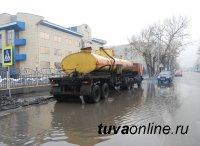 В Кызыле в режиме нон-стоп ведется откачка воды