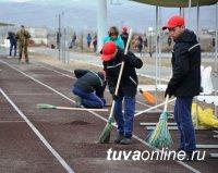 Кадеты и преподаватели Кызылского Президентского кадетского училища провели субботник