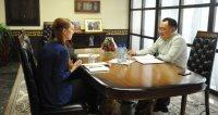Студентка из Норвегии взяла интервью о тувинской культуре у Главы республики Шолбана Кара-оола