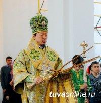 24 апреля в Воскресенском соборе в Кызыле проведено праздничное богослужение