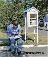 В Кызыле появилась первая уличная библиотека «Ном дептер»