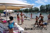 На протоке Национального парка Тувы открылся городской пляж