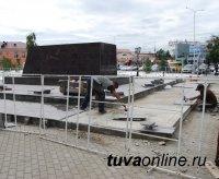 Памятник тувинским добровольцам на пути в Кызыл