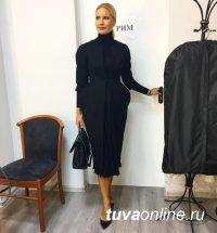 Известная телеведущая Елена Летучая купила пальто у тувинского дизайнера