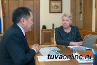 Глава Тувы Шолбан Кара-оол встретился с министром образования и науки России Ольгой Васильевой