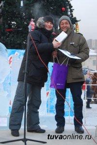 iPhone 7 для победителей конкурса Ледовых скульптур «Мир Кино», хлопушки, Дед Мороз на красном лимузине – в Кызыле открылась главная елка!!!