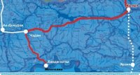 Росавтодор объявил торги на право реконструкции нового маршрута федеральной автотрассы М54 в Туве
