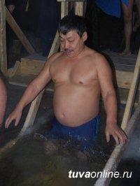 В ночь Крещения обряд омовения в освященной воде прошли более 500 кызылчан