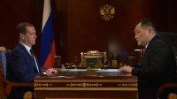 Премьер-министр РФ Дмитрий Медведев встретился с главой Республики Тыва Шолбаном Кара-оолом