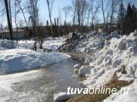 В Туве ожидается интенсивное снеготаяние