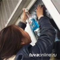 """""""Добрые сердца Тувы"""" помогли фронтовику с уборкой дома и прилегающей территории"""