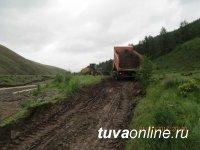На автомобильной дороге Хандагайты - Мугур-Аксы произошло разрушение земляного полотна