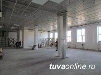 """В микрорайоне """"Спутник"""" ударными темпами строится новый лицей № 16 города Кызыла. Готовность 84%"""