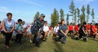 Сотрудники МВД Тувы проводят в детских лагерях «Зарядку со стражем порядка»