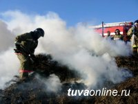 Нарушение правил пожарной безопасности при перевозке сена стало причиной пожара в Овюрском районе Тувы