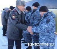 В Туву вернулся сводный отряд регионального МВД после длительной командировки