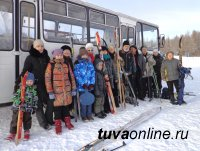 Любители лыжного спорта благодарят власти Кызыла за рейсовый автобус на станцию «Тайга»