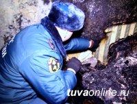 В Туве мужчина получил ожоги, пытаясь растопить печь керосином