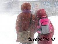 В Кызыле 42 градуса мороза. Не учатся 1-9 классы